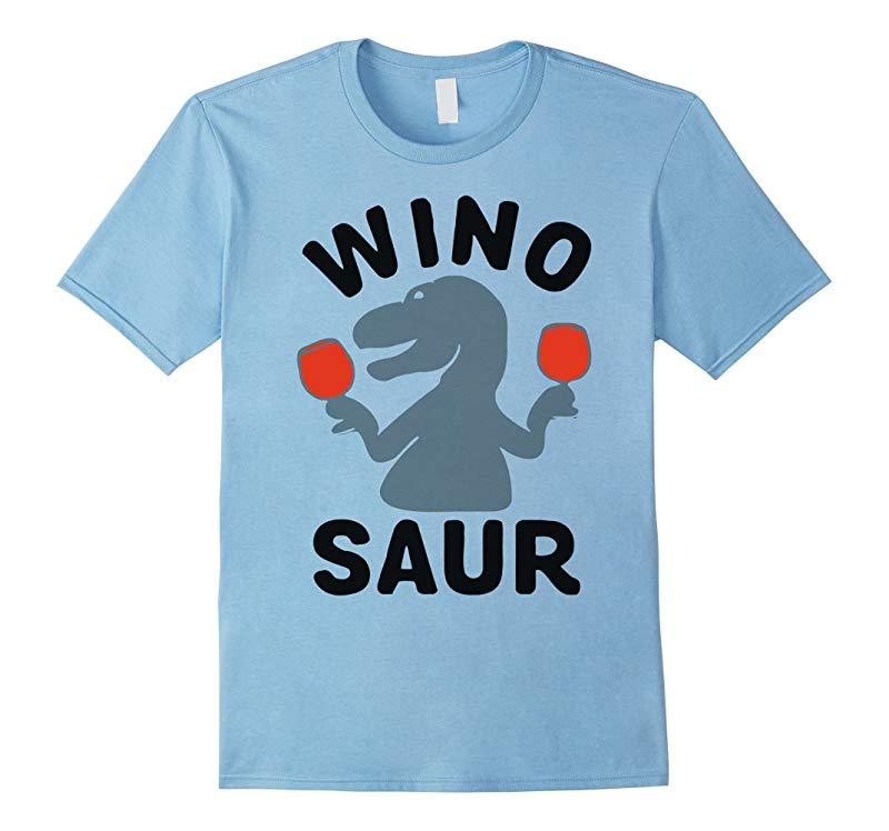 Wino Saur drinking dinosaur T-shirt-RT