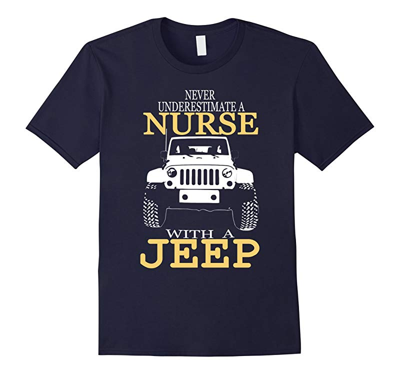 Nurse Shirts For Women - Nurse With A Jeep Graphic Tee-RT