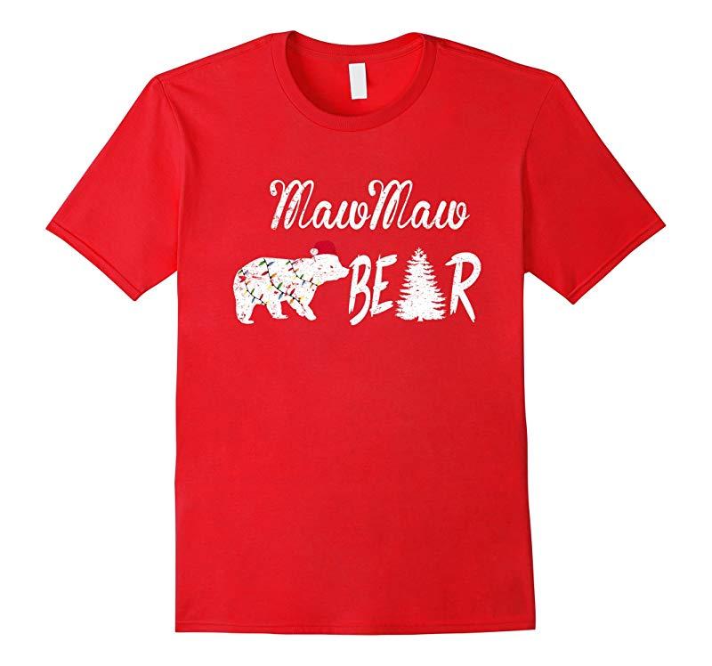 MAWMAW Bear - Christmas Hat Light Pajamas Tshirt For Adults-ANZ