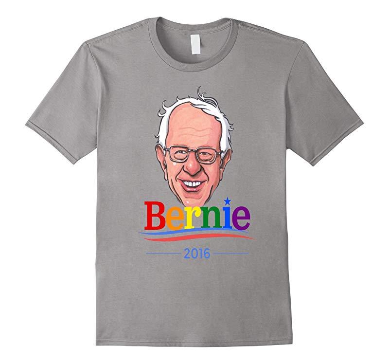 Bernie Sanders Shirt LGBT Rainbow Cartoon Democrat 2016-RT