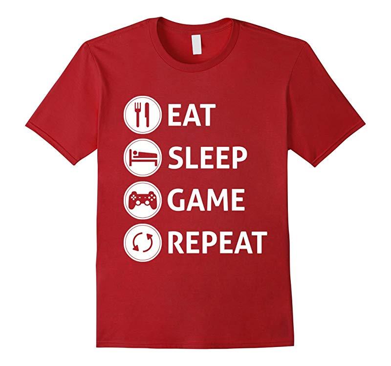 Gamer Shirt - Eat Sleep Game Repeat T-shirt For Gaming-Art