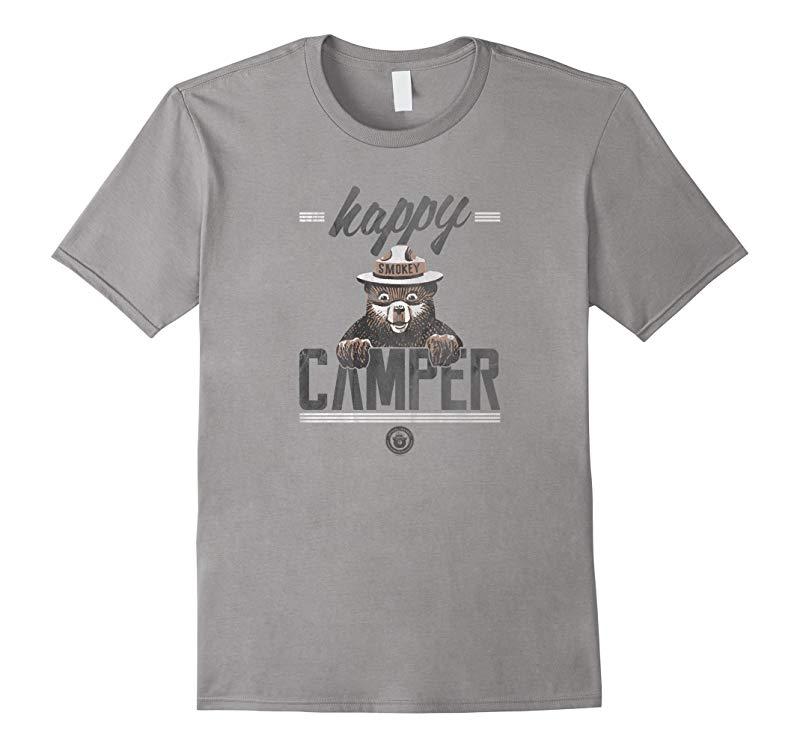 Smokey Bear Happy Camper T-Shirt  Classic Look-RT