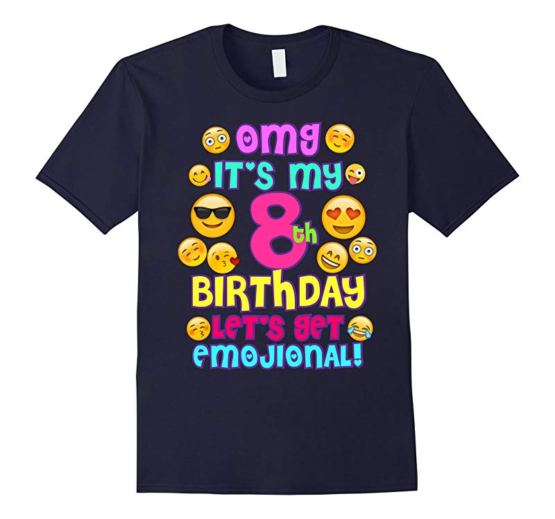 Birthday Girl TShirt For Age 8 Its My Birthday Emoji Fun-RT