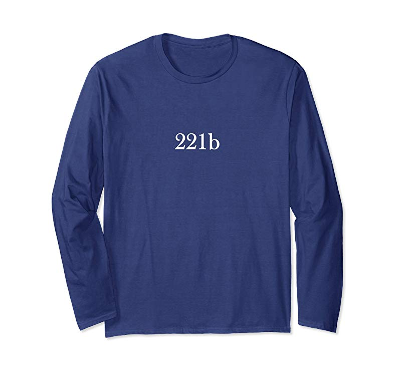 221b Sherlock Holmes Long Sleeve T-Shirt Elementary-mt