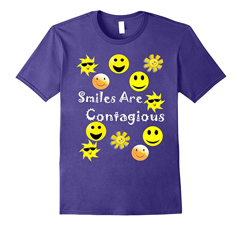 Smiles Are Contagious Multi Smiles T Shirt-RT