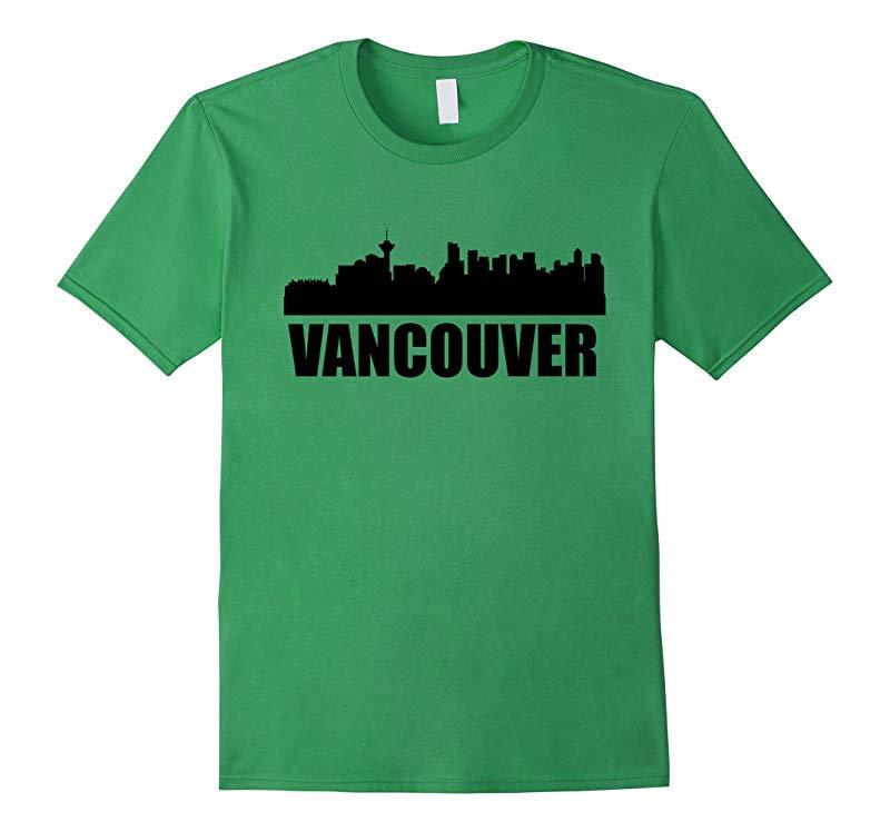 Skyline Of Vancouver British Columbia T-Shirt-RT