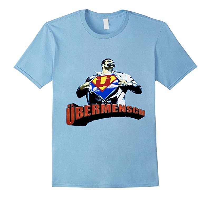 Ubermensch logo - Friedrich Nietzsche Overcoming T-Shirt-CL