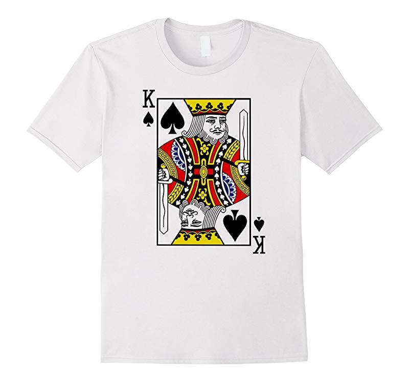 Ace of Spades  Card Suit Halloween Poker Magic Fan T-shirt-RT