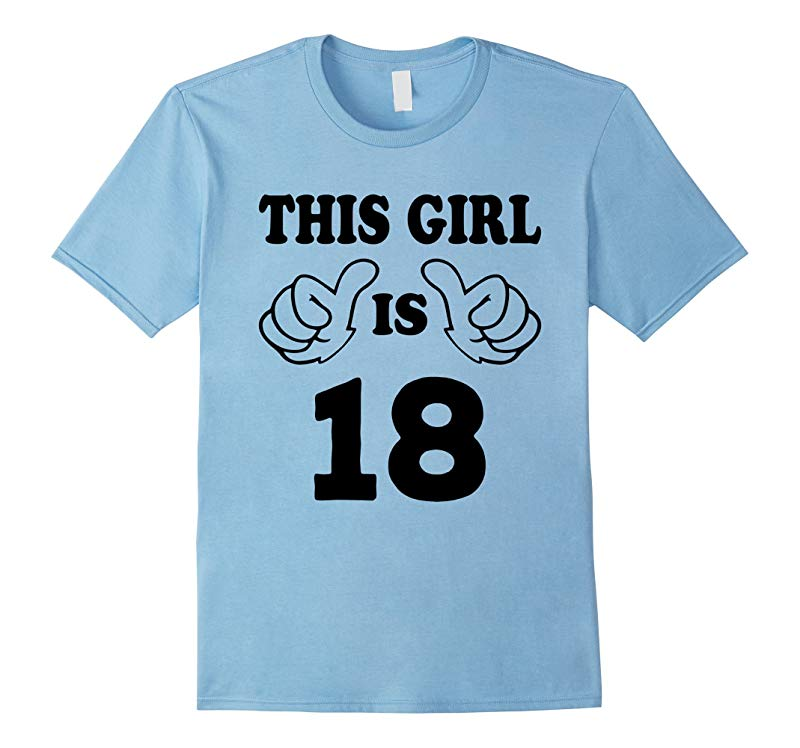 This Girl is eighteen 18 Years Old 18th Birthday Gift Ideas-PL