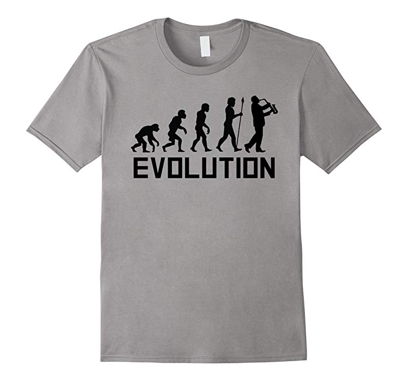 Saxophone Player Evolution Funny Music Shirt-RT