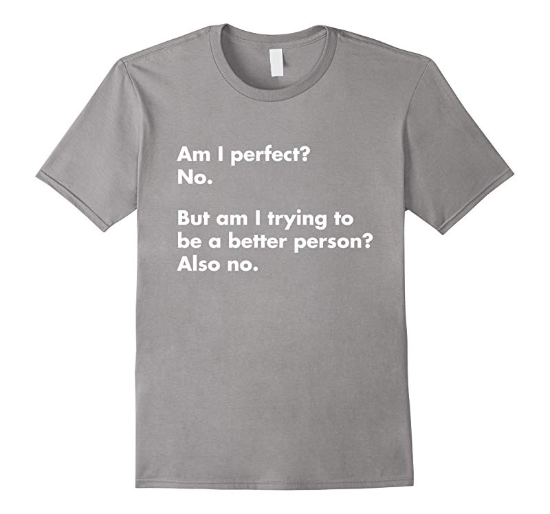 Am I perfect? No. T-Shirt - funny t-shirt-RT