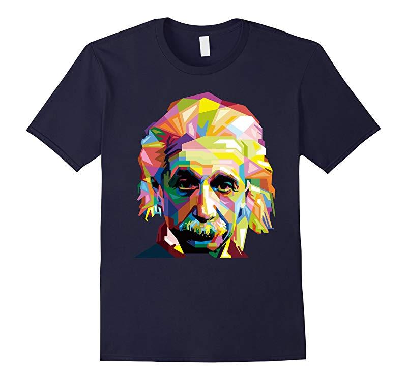 Albert Einstein T-Shirt Face Art Physics Science Teacher Tee-CD