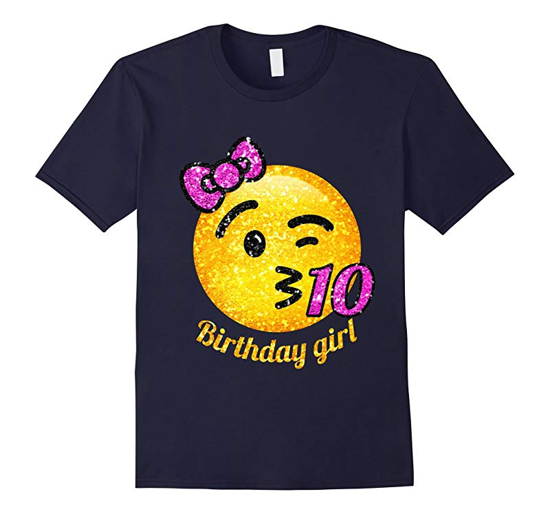 10th birthday throwing a Kiss Emoji with number shirt-RT