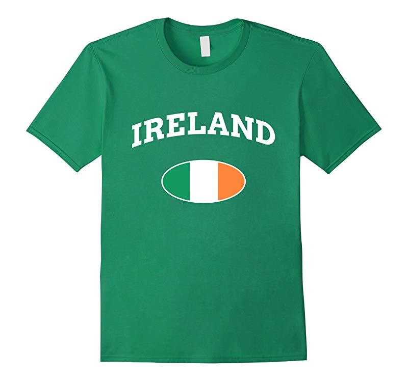 Ireland Irish Tricolor Flag T-Shirt Saint Patricks Day Tee-RT