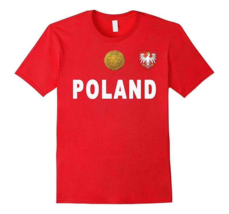 Polish National Football Jersey Tee Shirt Polska Soccer Fans-RT