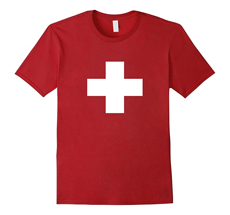 Flag of Switzerland T-Shirt drapeau de la Suisse T-Shirt-RT