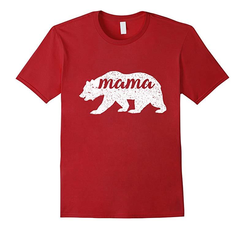 Women's New Vintage Mama Bear T-Shirt Camping Shirt-RT
