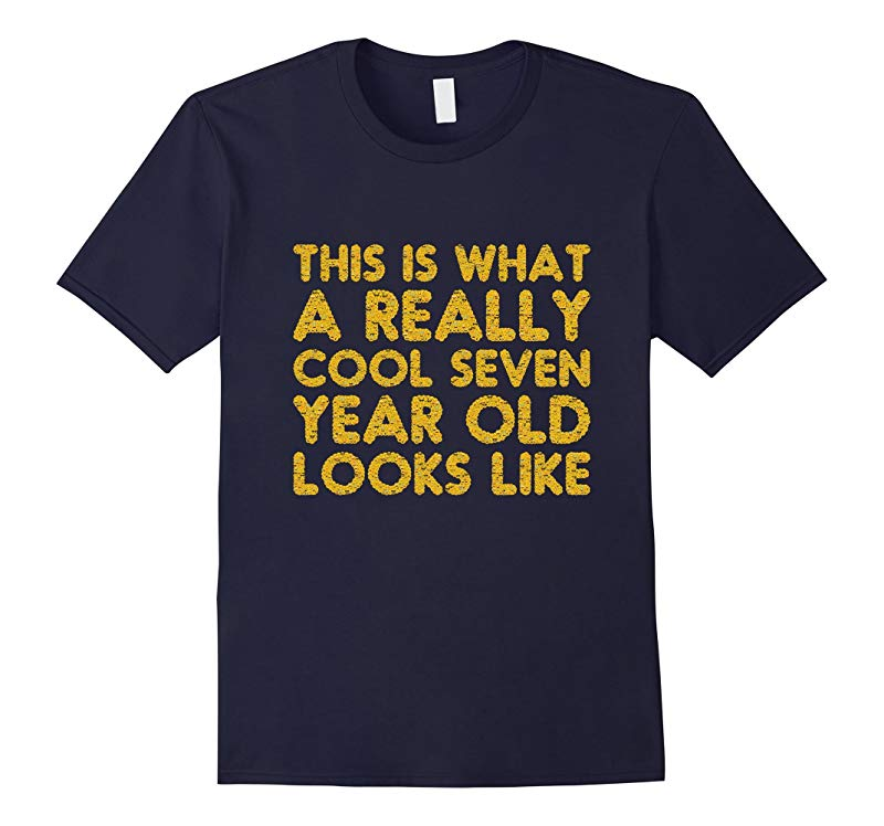7th Birthday Shirt Gift Cool Age 7 Year Old Boy Girl Tshirt-RT