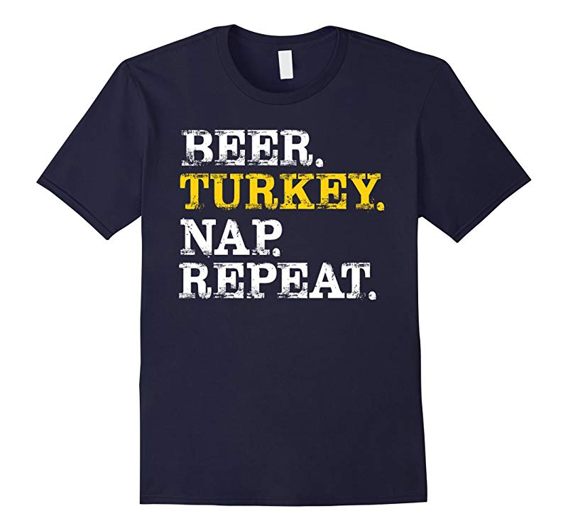 Christmas Funny Shirt Beer Turkey Nap Repeat 2017 Gift-RT