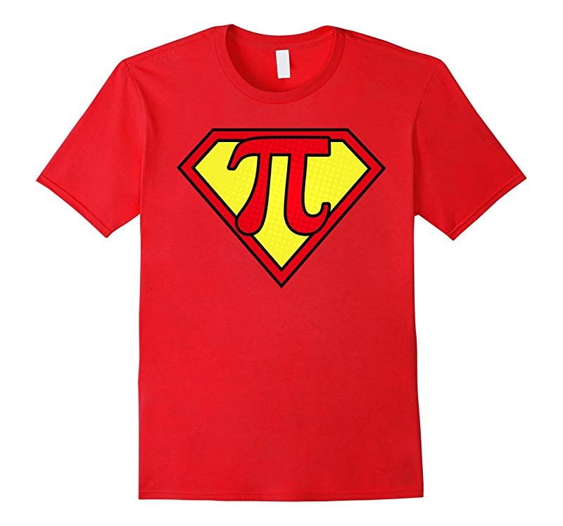 Pi Day 2017 Funny Pi Superhero Style T-Shirts for Math Geeks-TD
