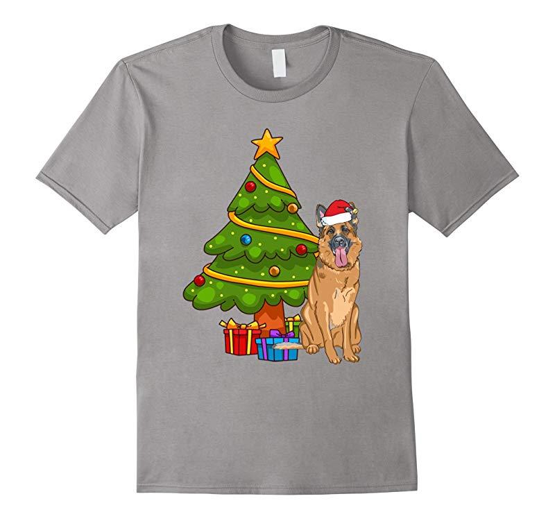German Shepherd Christmas T Shirt-ANZ