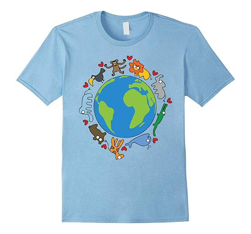 Animals Around The World Happy Earth Day Funny T-Shirt-RT