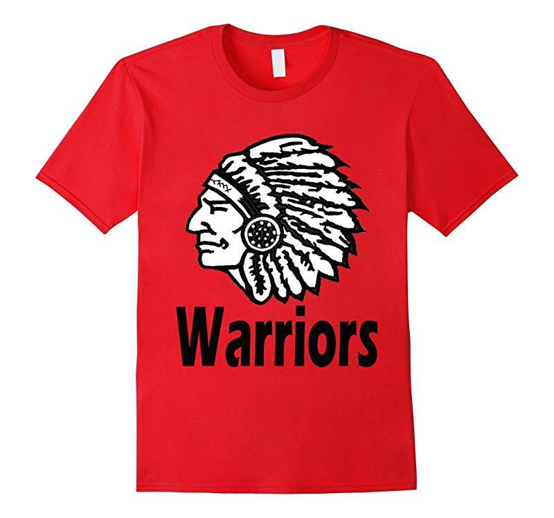 School Spirit Indian Head Warriors T-Shirt-TJ
