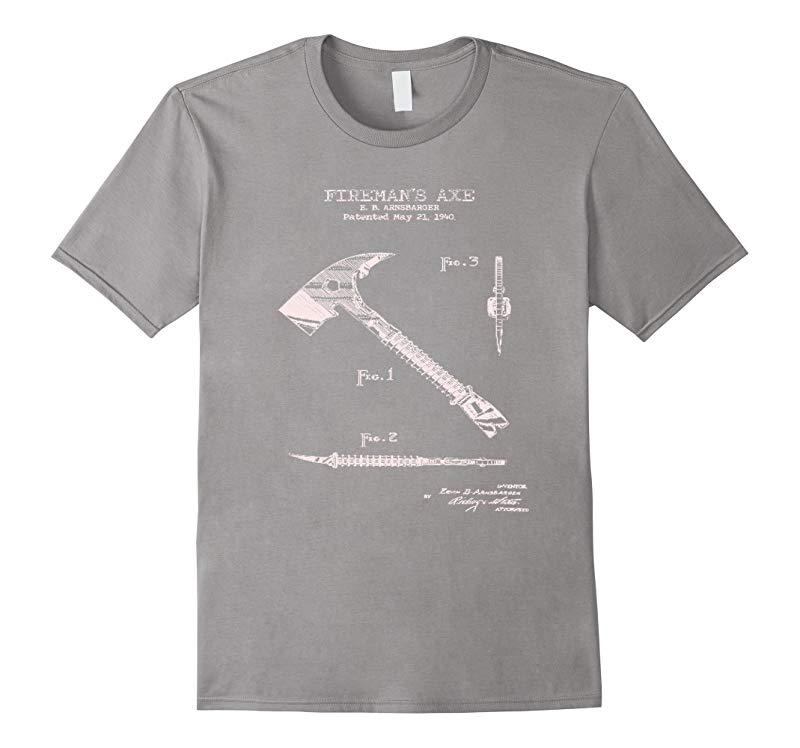 1940 Fireman's Axe Patent Graphic T-Shirt-RT