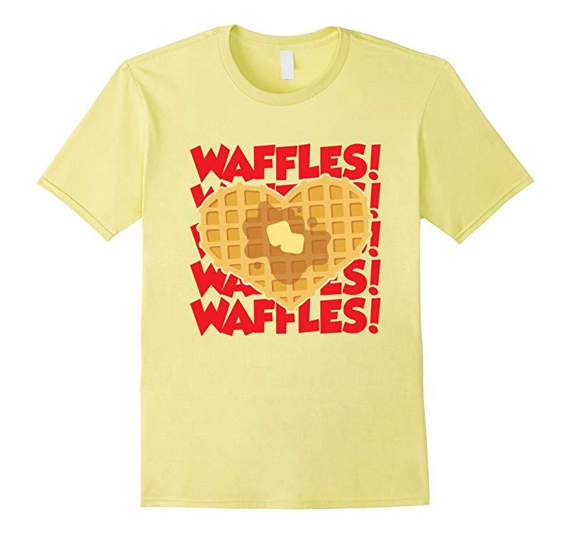 Waffle Heart I Love Waffles Waffle Graphic T-Shirt-RT