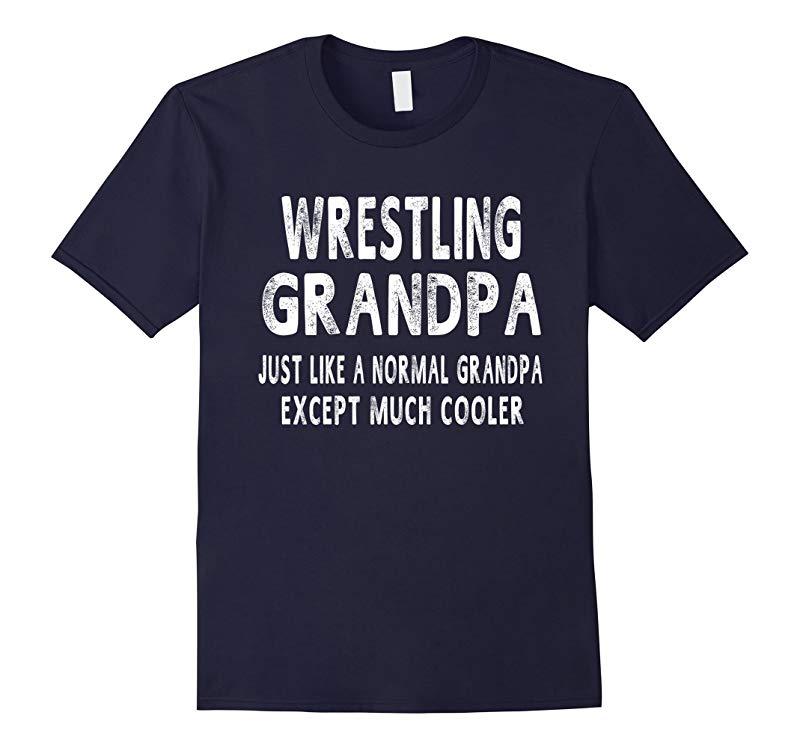 Wrestling Grandpa Fathers Day Gifts Grandpa Mens T-shirt-RT