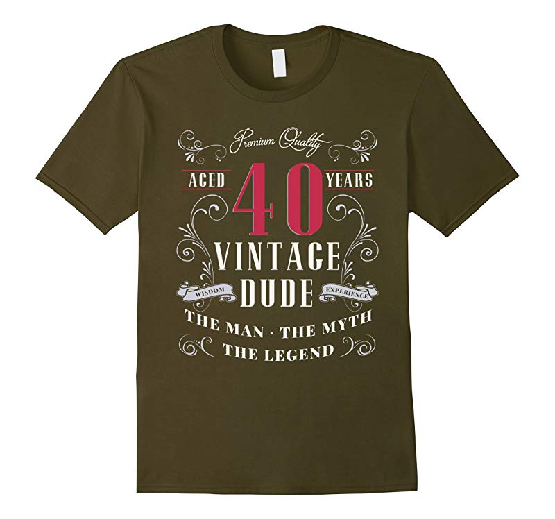 Vintage Dude 40th Birthday Lunch Napkins The Man T-Shirt-RT