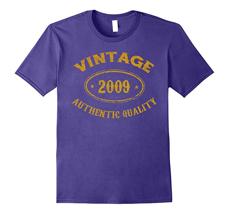 9 years old 9th Birthday - Vintage 2009 T-Shirt-RT