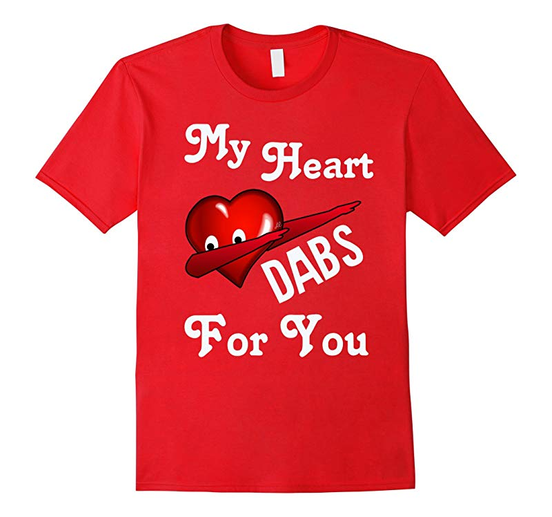 Valentine's Day Dabbing Emoji Heart T-Shirt for Kids & Women-RT