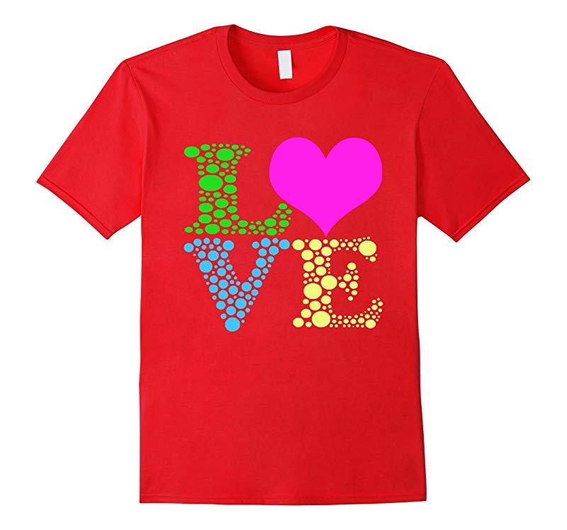 Valentines Day Shirts For Girls LOVE Heart Women-RT