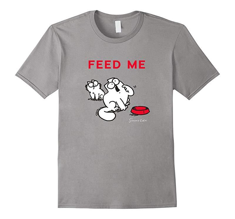 Simons Cat T-Shirt - FEED ME-RT