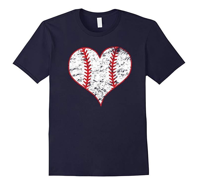 Baseball Heart Love Baseball Vintage-RT