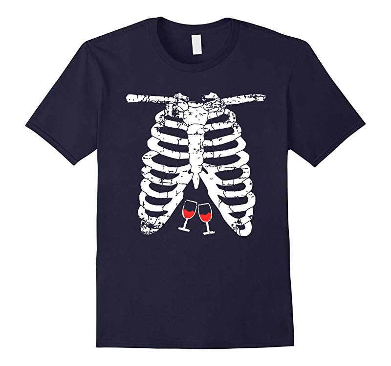 Skeleton Shirt by Halloween TS - Adults Wine Lover Costume-RT