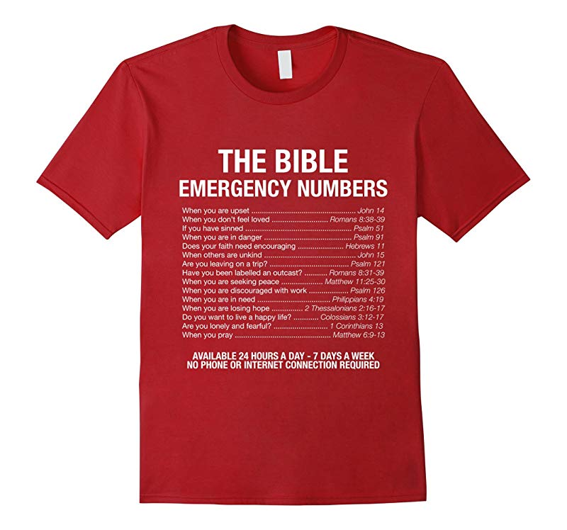 The Bible Emergency Numbers T-Shirt-RT