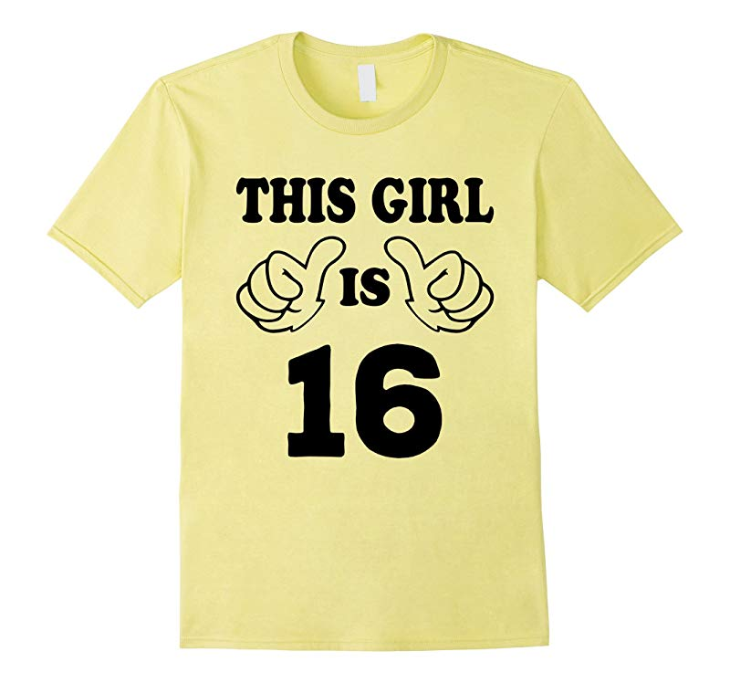 This Girl is sixteen 16 Years Old 16th Birthday Gift Ideas-PL
