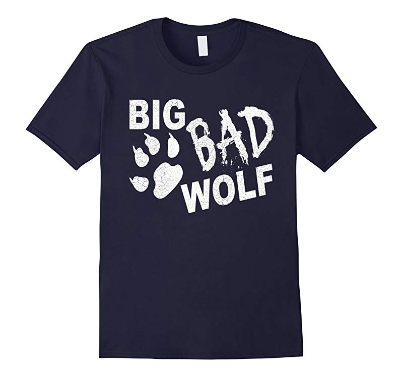 Big Bad Wolf Paw Distressed White Funny Novelty T Shirt-RT