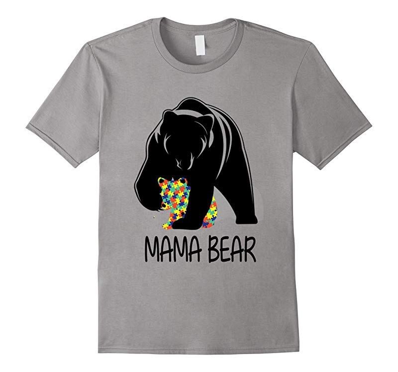 2017 Autism Awareness Mom - MamaBear TShirt-RT