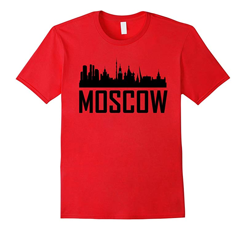 Moscow Russia Skyline Silhouette Cityscape T-Shirt-RT