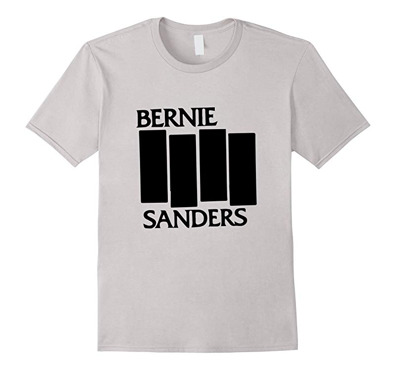 Bernie Sanders Black Flag authentic T shirt 2016-CL