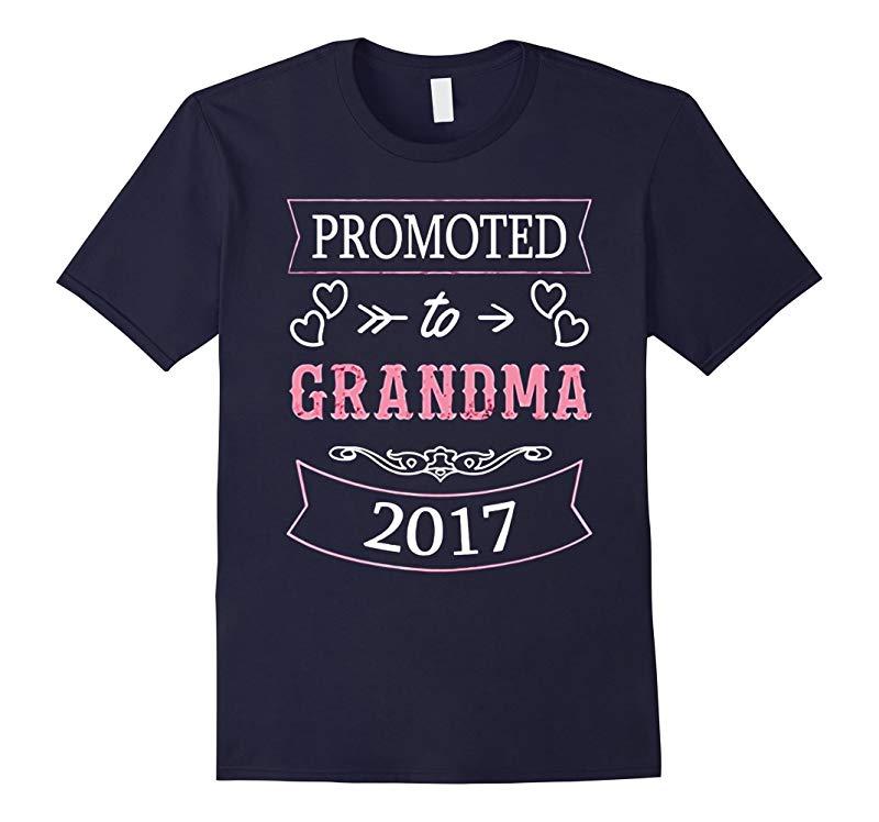 Womens Promoted To Grandma 2017 T-Shirt New Grandma 2017 S-RT