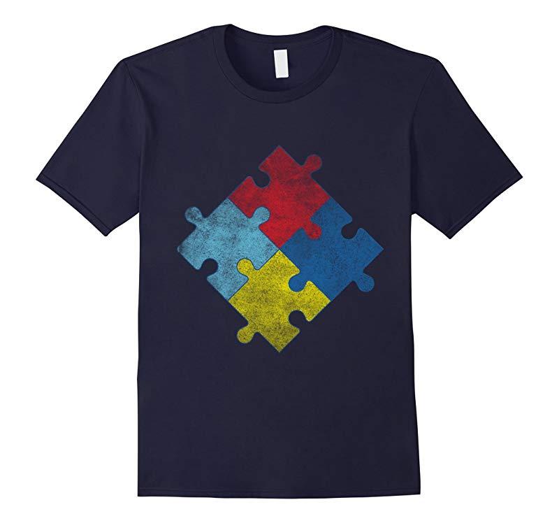 Vintage Autism Awareness T-Shirt-RT