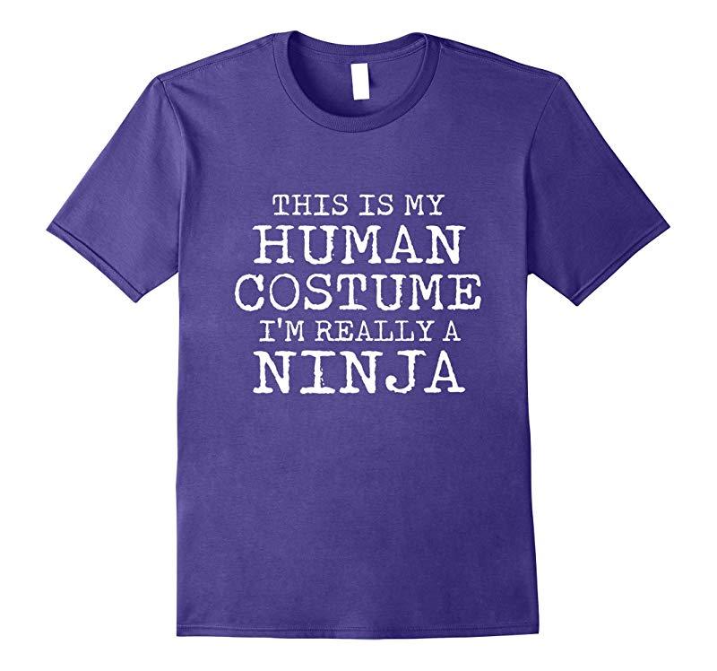 NINJA Halloween Costume shirt Easy for Men, Women-RT