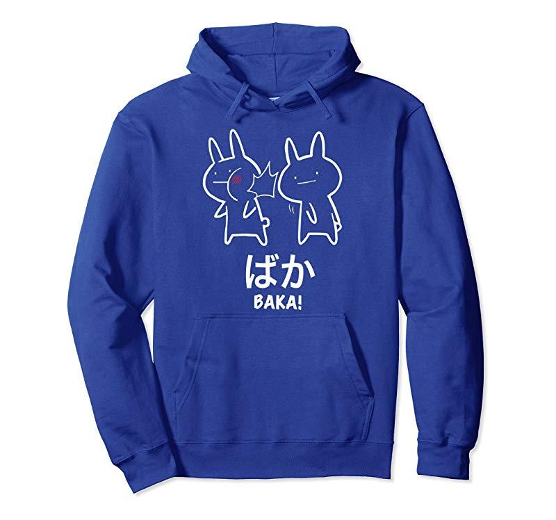 Funny Anime Baka Rabbit Slap Hoodie - Baka Japanese Pullover-alottee gift