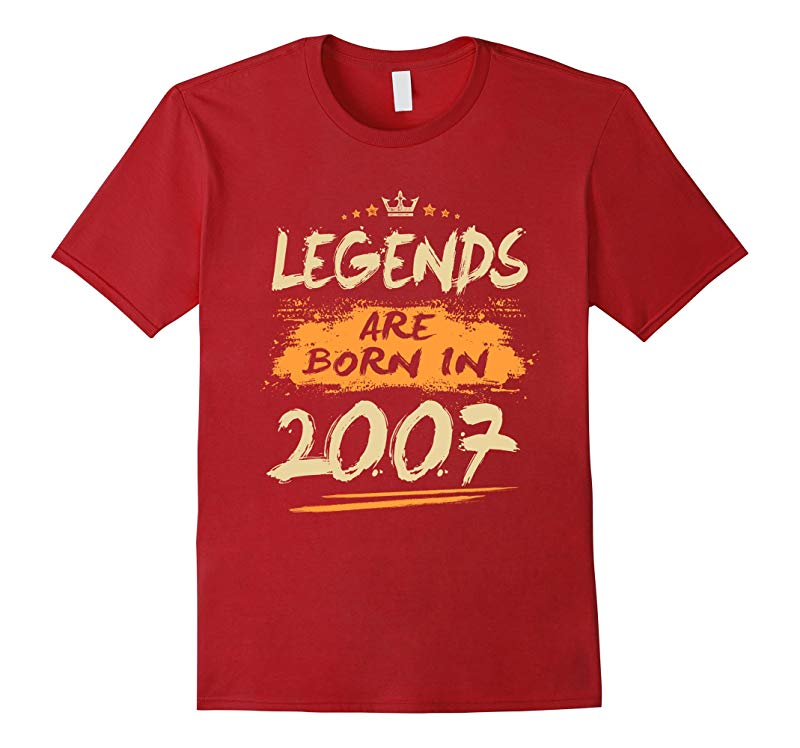 11th Birthday Gift Legends Are Born in 2007 T-Shirt-RT