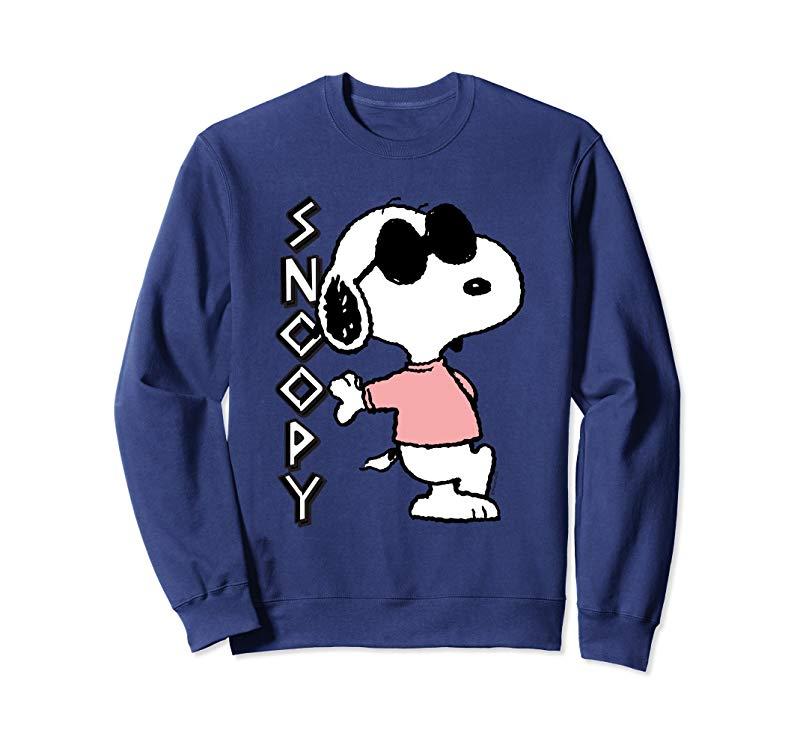 Peanuts cool Snoopy in pink Sweatshirt-alottee gift