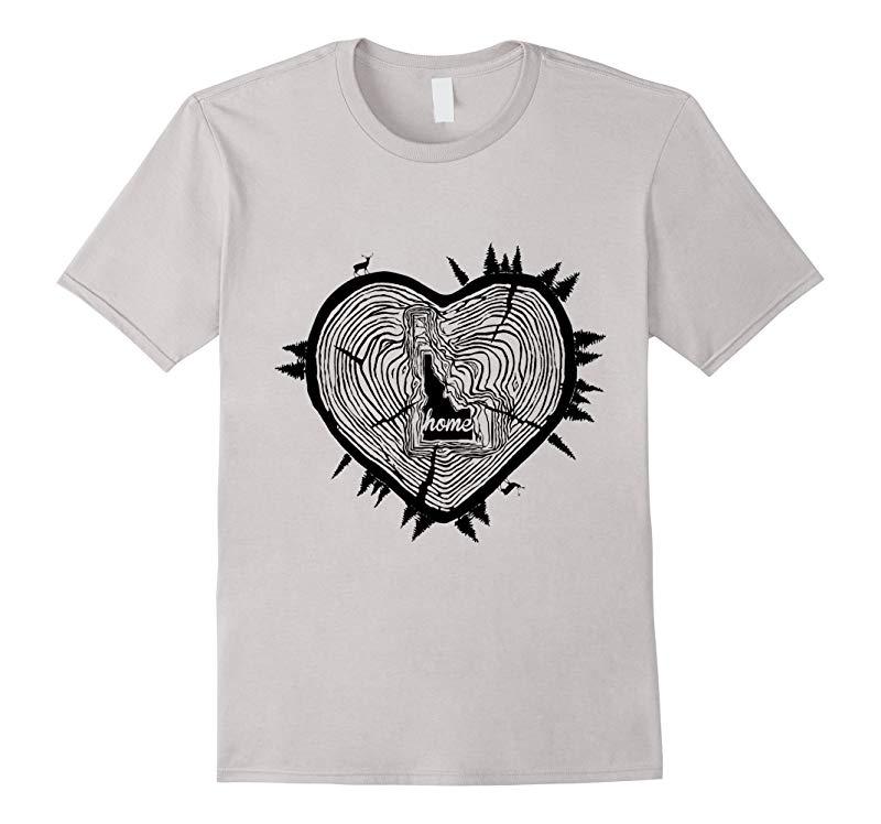 Idaho Wooden Heart Forest T-Shirt-RT